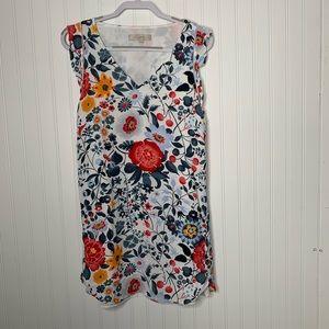 LOFT above knee shift floral dress  size M P